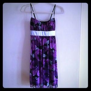 Ruby Rox Dresses - Purple Sleeveless Floral Dress
